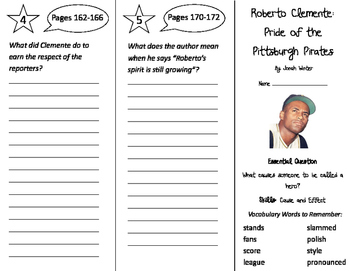 Roberto Clemente Trifold - Journeys 3rd Grade Unit 1 Week