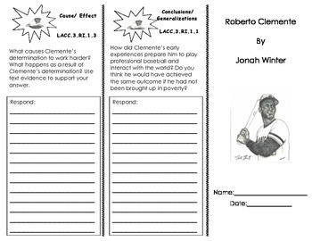 Roberto Clemente Trifold/ Journeys HMH 3rd grade