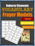 Roberto Clemente Vocabulary Frayer Models