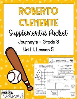 Roberto Clemente - Vocabulary Study Guide