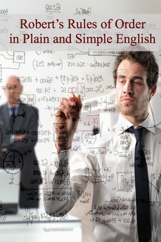 Robert's Rules of Order in Plain and Simple English