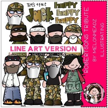 Robertsons tribute clip art - LINE ART- by Melonheadz