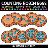 Spring Robin Egg Counting Clipart