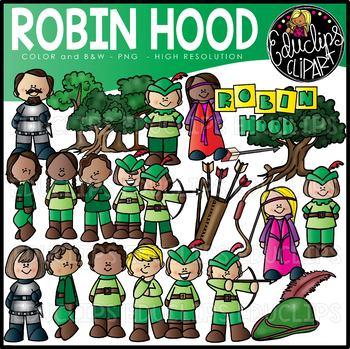 Robin Hood Clip Art Bundle {Educlips Clipart}