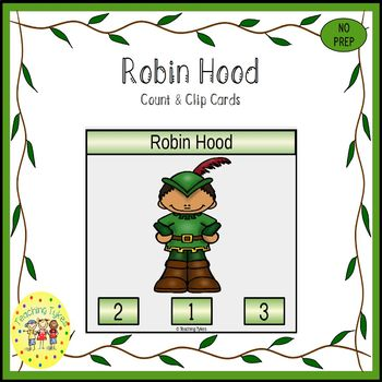 Robin Hood Count and Clip Task Cards