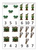 Robin Hood themed Count and Clip preschool printable math learning activity.