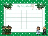 Robin Hood themed Daycare Health and Hygiene Potty Chart a