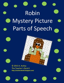 Robin Mystery Picture Parts of Speech