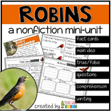 Robins - spring reading and writing
