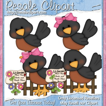 Robins ClipArt - Commercial Use