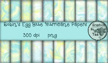 Robin's Egg Blue Hurricane Papers