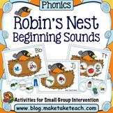 Alphabet - Beginning Sounds Robin's Nest