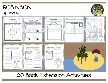 Robinson by Peter Sis 20 Book Extension Activities NO PREP