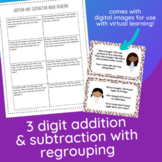 3 Digit Addition & Subtraction Word Problems with Regrouping