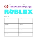 Roblox Themed Worksheet: 3-digit addition with regrouping