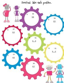 Robot 2 digit x 1 digit