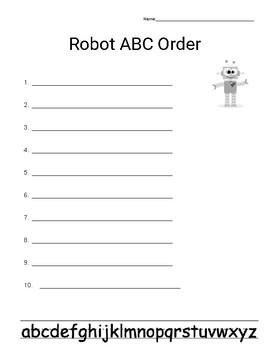 Robot ABC Order