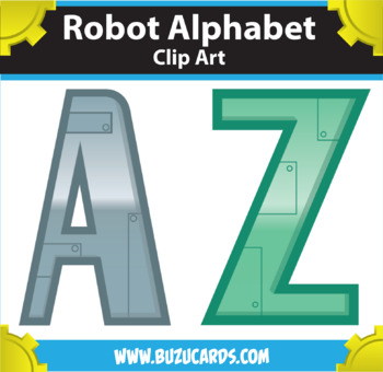 Robot Alphabet Clipart