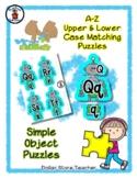 Robot - Alphabet / Letter Puzzles - Simple Objects