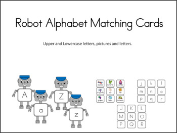 Robot Alphabet Matching Cards