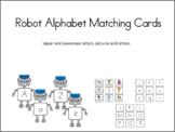 Robot Alphabet Matching Cards