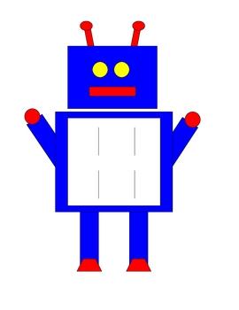 Robot Alphabet Matching Strips
