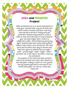 Robot Area and Perimeter Project