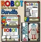 Robot Back To School BUNDLE --- Folders, Desk Tags, Presentation, Craftivity