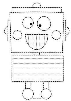Robot Big Shape Tracing {Prewriting Activity}
