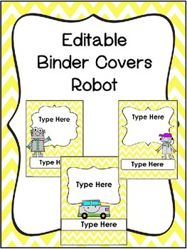 Robot Binder Covers Editable