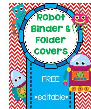 Robot Binder or Folder Cover Page  ***Freebie***