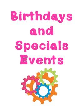 Robot Birthdays and Special Events Tracker to Teacher Organizer