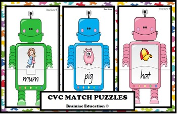 Robot CVC Matching Game