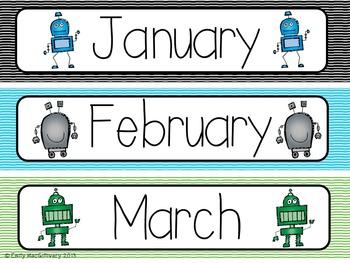Robot Calendar Kit
