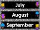 Robot Calendar Months in Silver!