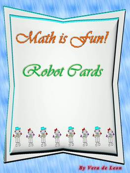 Robot Cards for Math (English and Spanish)