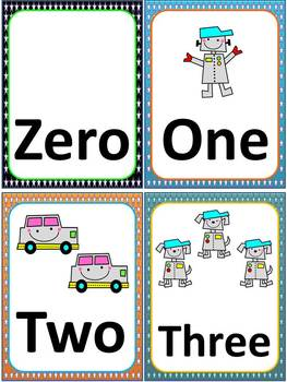 Robot Cards for Math