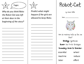 Robot Cat Trifold - 2nd Grade Literacy by Design Theme 7