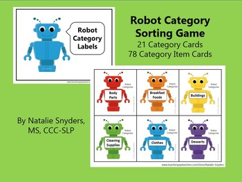 Robot Categories for Speech Language Therapy and the Classroom