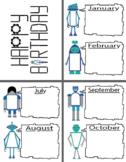 Robot Classroom Decor Pack-Blues