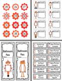 Robot Classroom Decor Pack-Oranges