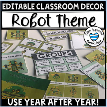 STEM Decorations Bulletin Board Ideas Decor Editable Labels Signs and