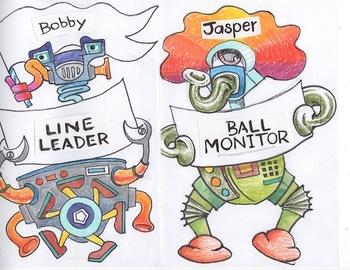 Helpers Board/Robot Clip Art