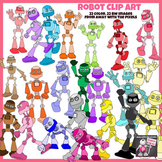 Robot Clip Art Color and Black and White Clipart Images fo