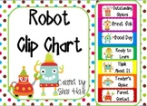 Robot Clip Chart Labels Classroom Management Behavior