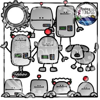 Robot Clipart Bundle