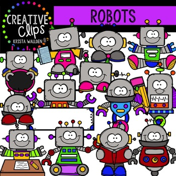 Robot Clipart {Creative Clips Clipart}