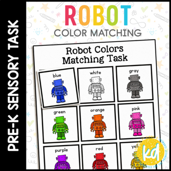 Robot Color Matching Folder Game for Early Childhood Speci