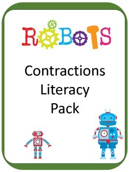 Robot Contraction ELA Literacy Center GAMES