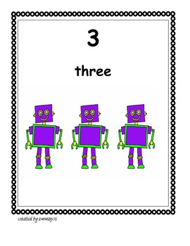 Robot Counting Poster